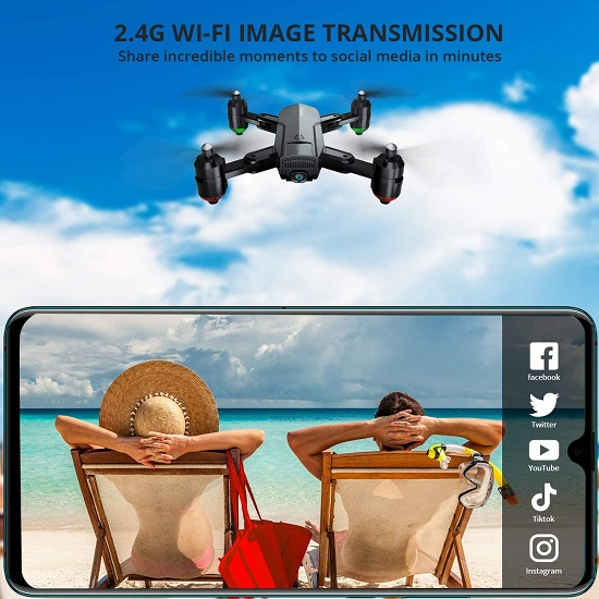 GO Dragon Touch DF01G Foldable GPS Drone