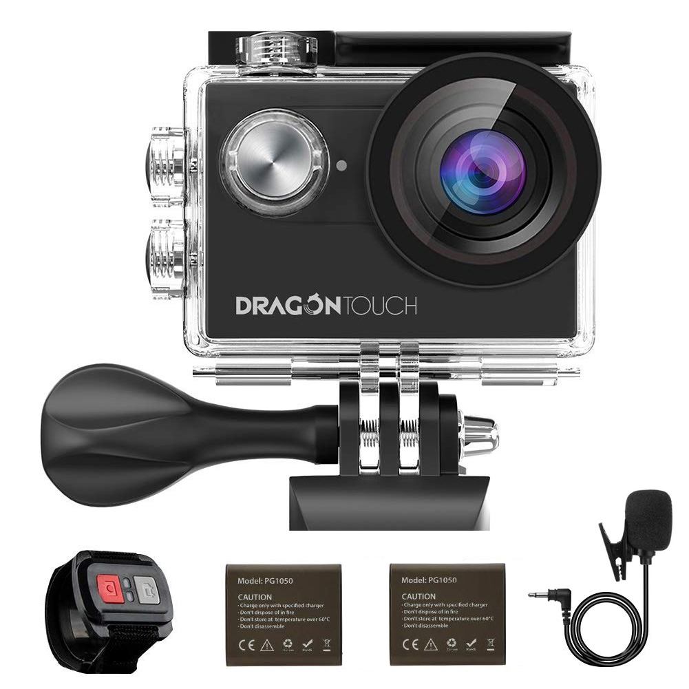 Compatible with The Dragon Touch Vision 4 Navitech 8-in-1 Action Camera Accessories Combo Kit