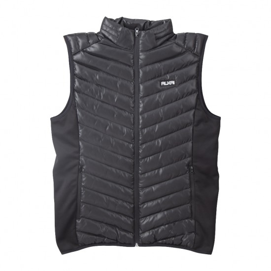 ALKAI Men's Packable Travel Light Weight Classic Quilted Down Puffer Vest