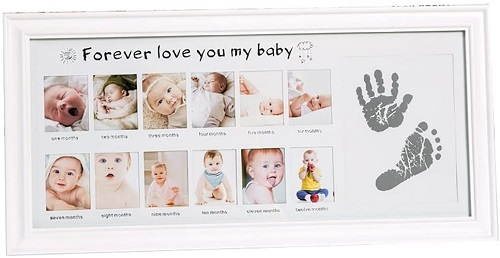 12 Month Baby Picture Frame with Foot Printing