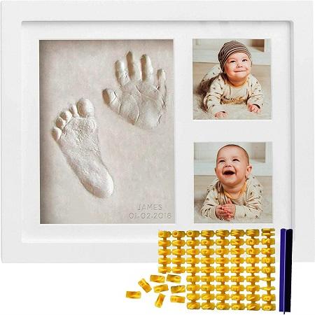 Baby Handprint & Footprint Picture Frame Kit