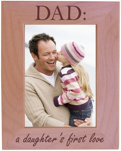 Pink Wood Dad Picture Frame