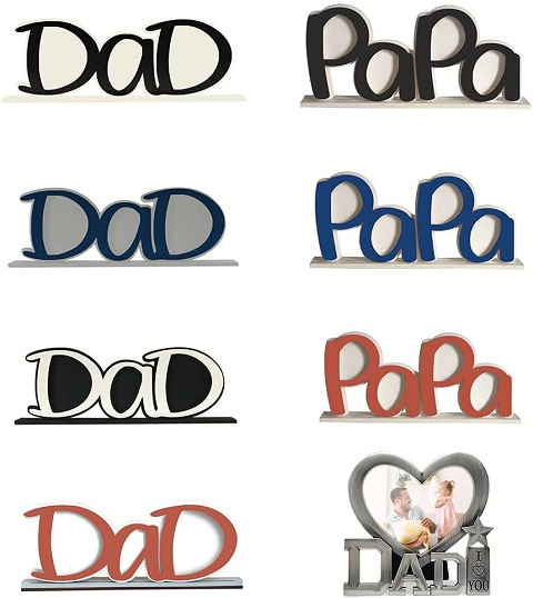 DaD & PaPa Wooden Tabletop Picture Frame