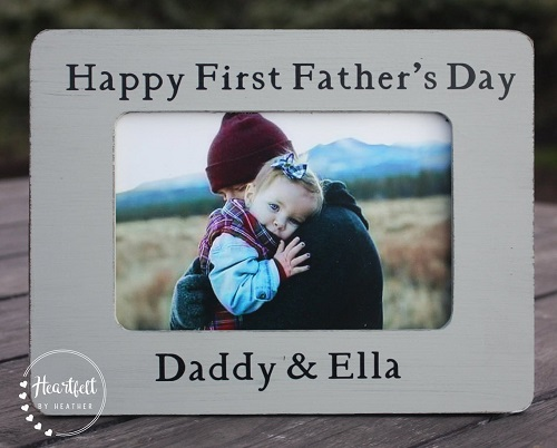 Happy First Father's Day Picture Frame