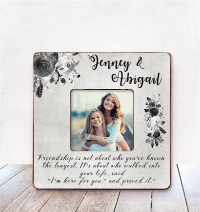 Best friend gift personalized picture frame
