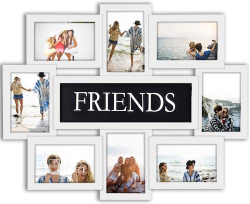 White Friends Picture Frame