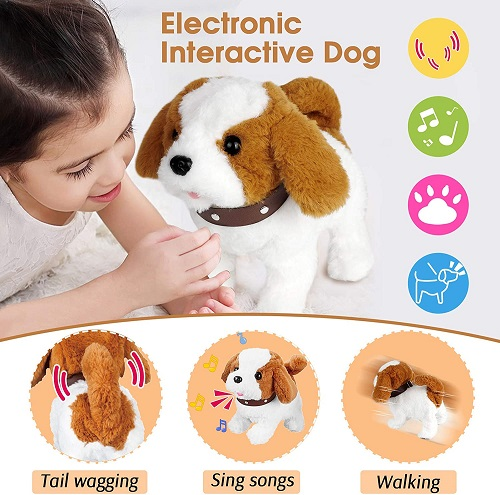 Electronic Interactive Stuffed Dog Toy