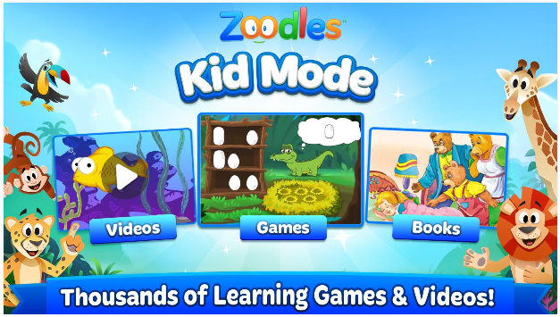 best tablet for kids learning Zoodles